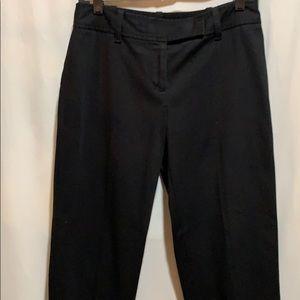 """LOFT ANN TAYLOR """"Julie"""" black pants: SZ 4P"""